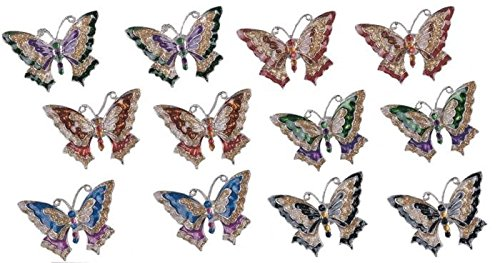 StealStreet SS-G-97706 Refrigerator Fridge Magnet Collection Butterfly Copper Decoration by StealStreet