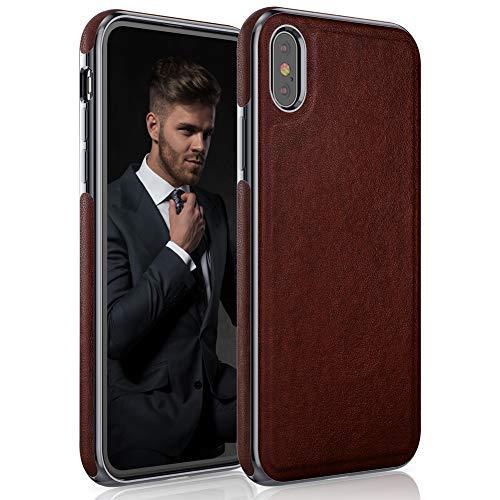 sale retailer a3092 6a0d0 Amazon.com: LOHASIC iPhone Xs Max Case Leather, Premium Luxury Slim ...