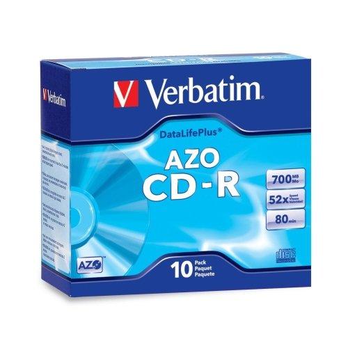 Wholesale CASE of 25 - Verbatim Branded Slim Case CD-R-CD-R Disc, 52X, 700MB/80MIN, Branded, Slim Case, 10/PK