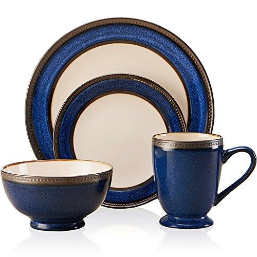 Flow Blue Soup Bowl - Cobalt Blue Glaze European Vintage Cup Bowl Set Tableware/Household Western Dish/Salad Bowl/Breakfast Cup/Juice Cup/A set of four