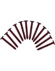 Pack of 12 Vinyl Shutter Fastener Spike Loks for Installing Decorative Exterior Vinyl Shutters