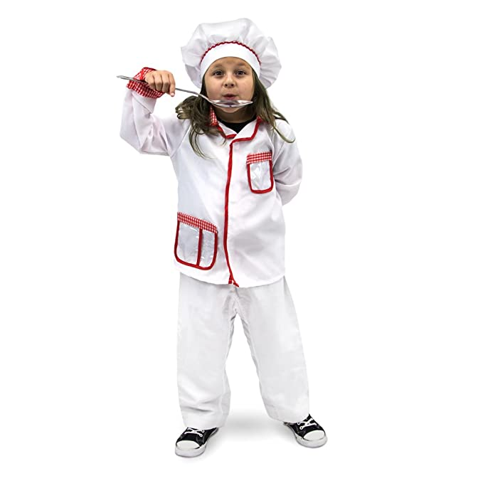 Master Chef Children's Halloween Dress Up Theme Party Roleplay & Cosplay Costume (Youth Small (3-4))