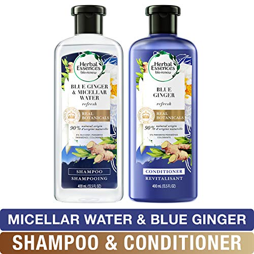 Herbal Essences, Shampoo and Sulfate Free Conditioner Kit, BioRenew Micellar Water & Blue Ginger, 13.5 fl oz, Kit (Shampoo Volumizing Ginger)