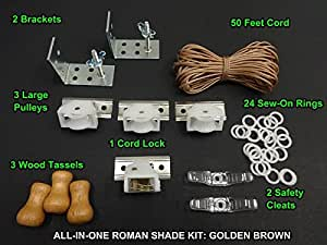 roman shade hardware kit all in one shade hardware kit in golden 4871
