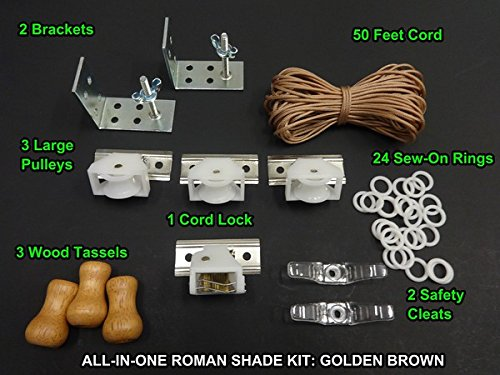 DE HARDWARE KIT, in Golden Brown (All the basics you'll need: cord lock, pulleys, cord, brackets, cleats, rings) ()