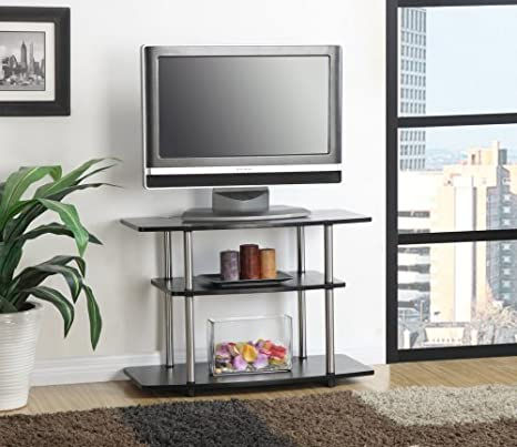 Great Convenience Concepts Designs2Go 3 Tier TV Stand For Flat Panel Television  Up To 32