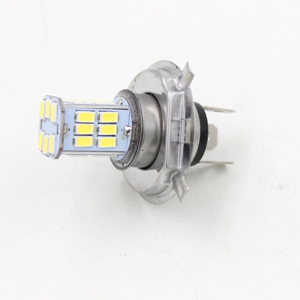 6V Motor H4 30 SMD LED Motorcycle Headlight Bulb Head lamp DC 6500K White  High/Low Conversion Kit