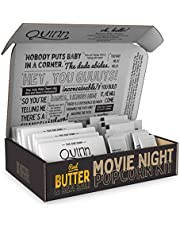 Quinn Microwave Popcorn - Made with Organic Non-GMO Corn - Butter and Sea Salt, 8 bags