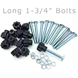 "Pet Carrier Bolt Fasteners - Black Nylon Nuts (20 pack, 1-3/4"" Long Bolts)"