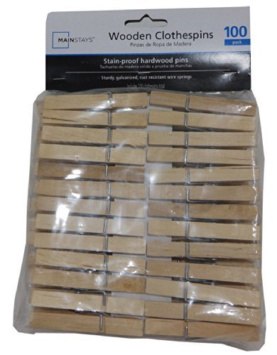 Standard Wooden Clothespins - 100-count