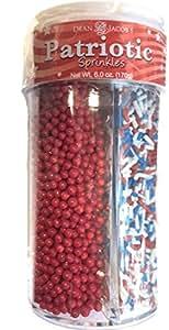 Dean Jacob's 4in1 Patriotic Sugar Sprinkles ~ 6.0 oz.