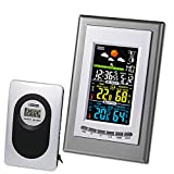 GIMAX Digital LCD Wireless Weather Station Thermometer Clock Calendar Indoor Outdoor