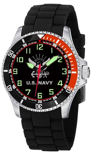 Aqua Force Navy Stainless Steel Case Dive Watch with 47mm Face