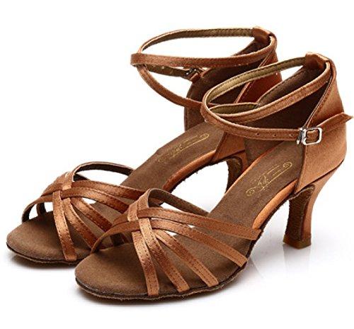 Della Salsa a Scarpe Superiore Shoe Donne Latino Ballroom Ragazza Satin altri Med 36 Colori Delle Professionista Dance Sandali Fxzrwx