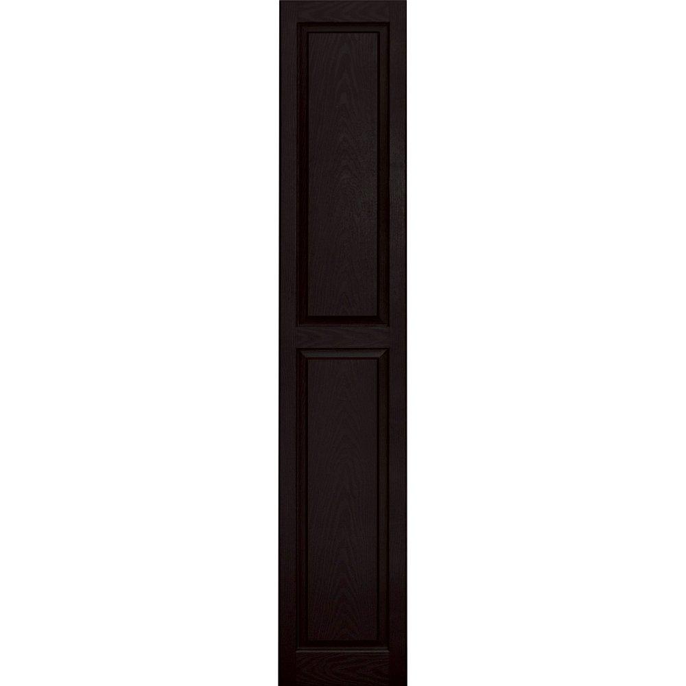 Vantage 3114080002 14X80 Raised Panel Shutter/Pair 002, Black by Vantage