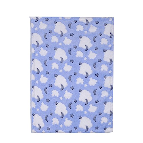Center Victorian Table - Warm Pet Mat Paw Print Cat Dog Puppy Fleece Soft Blanket Bed Cushion Kitten (clouds)