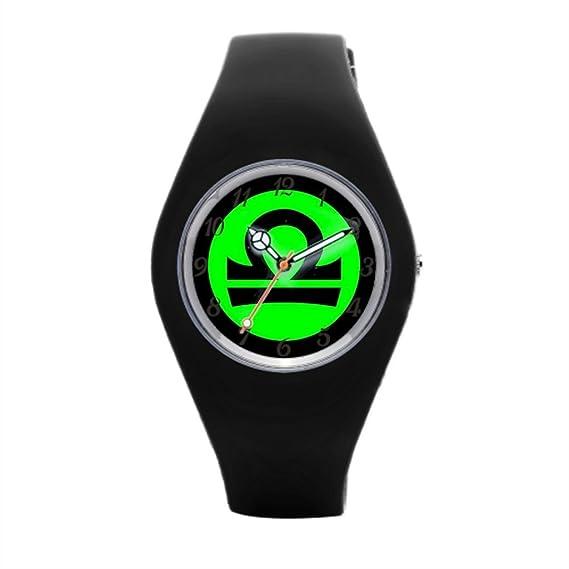 Redondo Señoras deporte relojes Zodiac goma reloj bandas: Amazon.es: Relojes