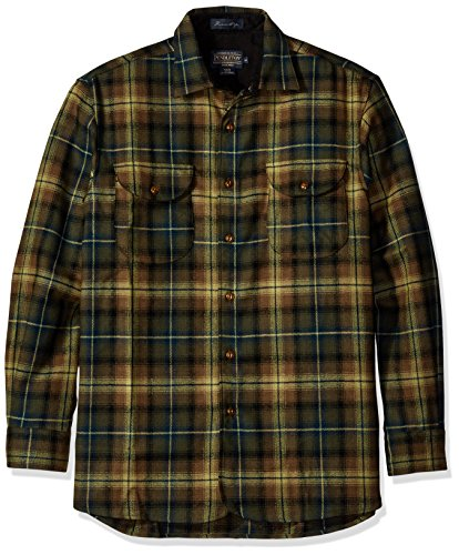 Pendleton Men's Long Sleeve Classic-Fit Buckley Shirt, Green/Olive Plaid-31836, XXL from Pendleton