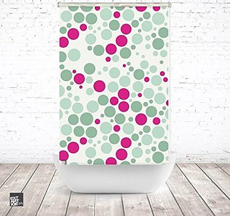 EXTARTIQE extar tiqe Diseño Ducha 100 cm Textil Pattern Green Rosa baño Enrollable para bañera o Ducha: Amazon.es: Juguetes y juegos