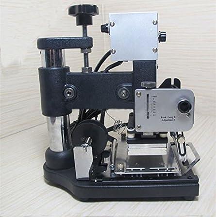 Máquina manual de grabado-Máquina para grabar en relieve la tarjeta PVC-álbum de fotos, diseño de bandas, metalizadas máquina inoxidable con volquete matriz ...