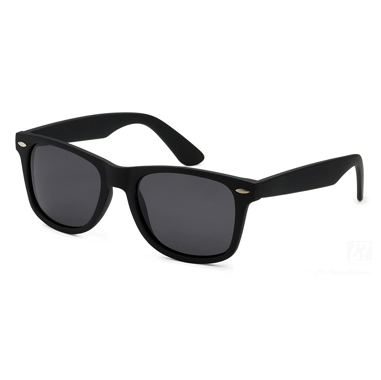 Children Wayfarer Color Frame Sunglasses P1301 (Black)