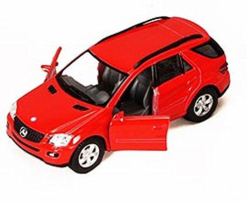 [해외]메르세데스 벤츠 ML-클래스 SUV 레드 - 킨스마트 5309DD - 12.7cm 다이캐스트 모델 장난감 자동차 / Mercedes Benz ML-Class SUV, Red - Kinsmart 5309DD - 5 Diecast Model Toy Car