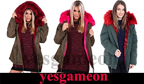 Yes Gameon - Chaqueta - Manga Larga - para mujer Camouflage Red