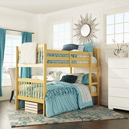 Wooden Bunk Bed, Multiple Finishes, Home Furniture Children Bedroom Kids  Room Ladder Separate Comfortable