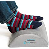 Rest My Sole - Foot Rest Cushion for Under Desk - Ergonomic Footrest Your Feet Will Love at Home Or Office - Resilient Comfort Foam Non-Slip Lower Surface and Low Profile for Optimum Leg Clearance