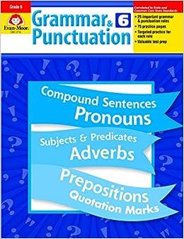 Grammar and Punctuation, Grade 6