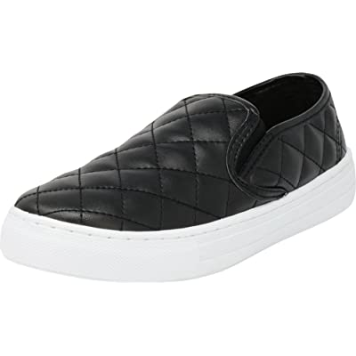 Amazon.com | Cambridge Select Women's Round Toe Slip-On Quilted Stretch Fashion Sneaker | Shoes