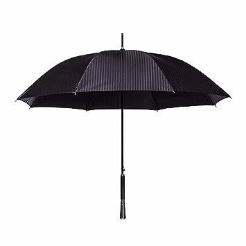 WAWZJ Paraguas Macho Y Hembra Doble Paraguas Automático Negocio Mango Largo Simple Caballero Empuñadura Recta Paraguas