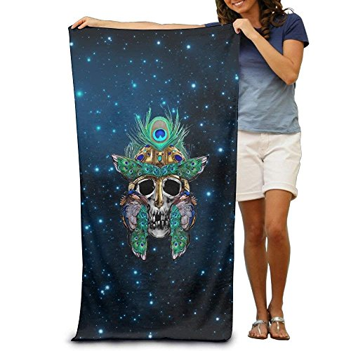 X-Large Peacork Eagle and Skull Adults Cotton Beach Towel 31 X (Eagles Paper Clip Holder)