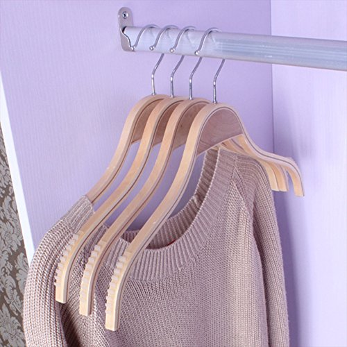 Solid wood hangers,Women's shirt hangers non-slip plywood wooden hangers modern minimalist clothing shop shelves bamboo wooden hangers-A 40x24x1cm(16x9x0inch) by SDFDSVDCGVSGVCGD (Image #1)