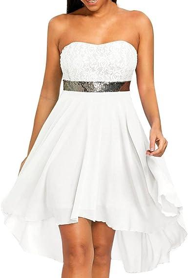 Vestiti Eleganti Stile Impero.Jiameng Vestito Da Donna Elegante Moda Semplice Lace