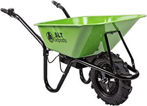 SLT Gdpodts Electric Wheelbarrow Green Super Duty Electric Utility Cart 24V DC 500W AGM Battery Drive 330LBS Maximum Capacity Garden Cart