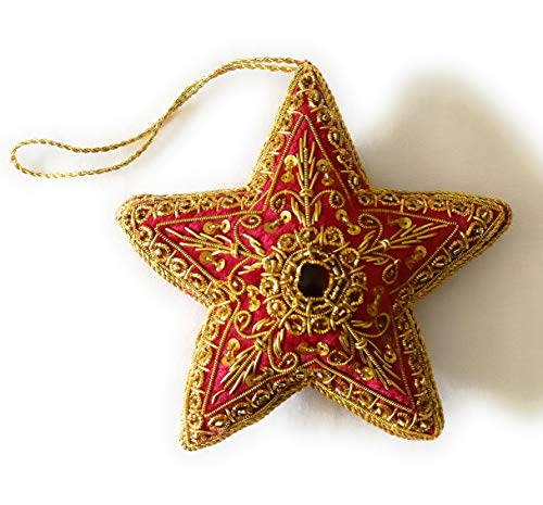 Marigold Collections, Intricately Hand Crafted Embroidered, Christmas Ornaments - - Sampler Autumn Motif