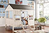 Major-Q Spring Cottage Full Sized Bed (Weathered White and Washed Grey)