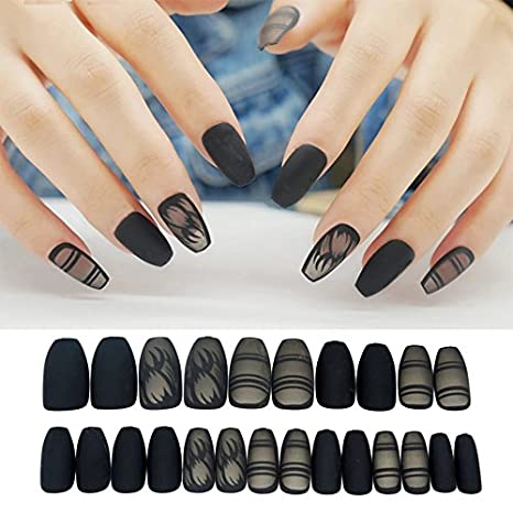 Business Ventures Reusable Designer Artificial Nails With Adhesive