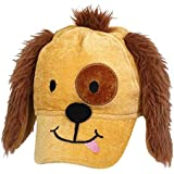 Amscan Adorable Party Pups Deluxe Fabric Hat, Brown/Light Brown
