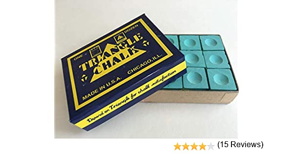 Triangle - Tiza para billar (12 unidades sueltas), color verde ...