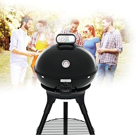 Tefal BG9168 Aromati-Q 3-en-1 Barbecue électrique Rond pour Griller, rôtir et Fumer, Version Standard