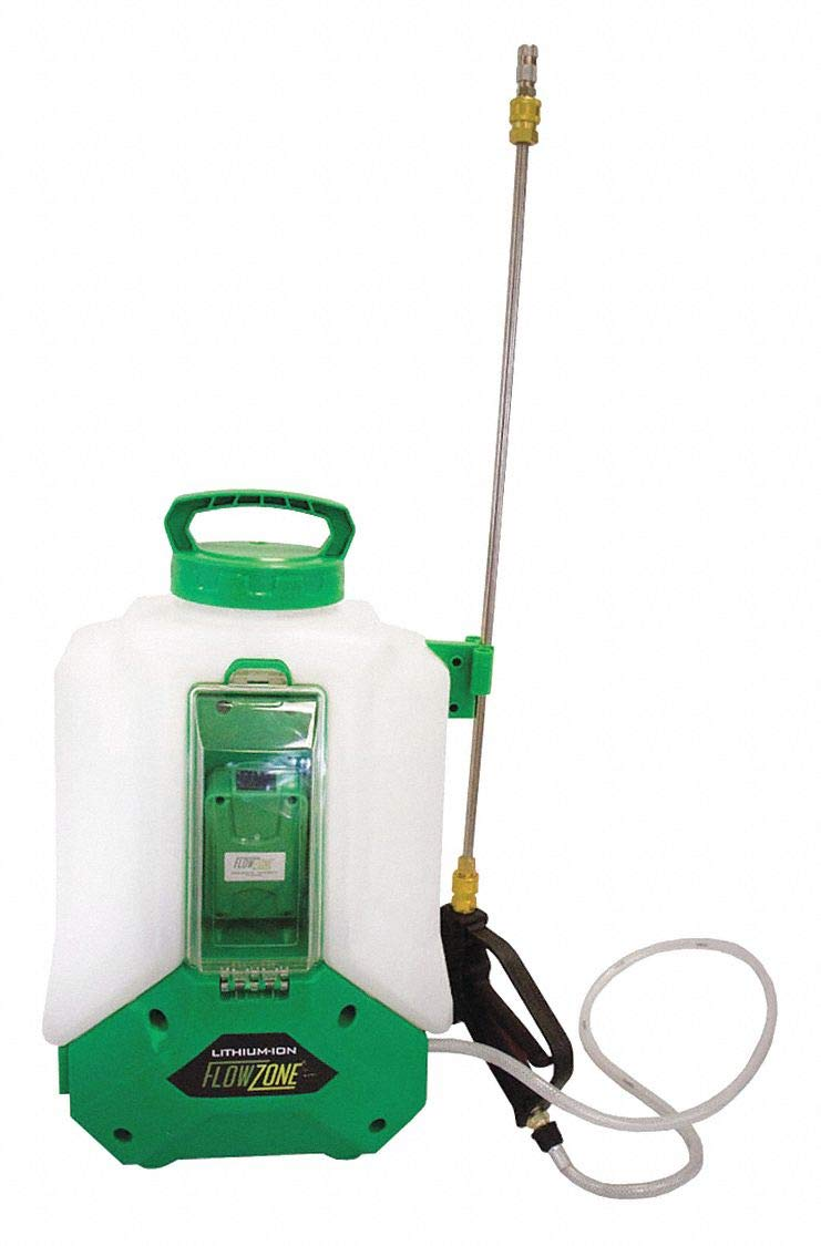Backpack Sprayer, Polyethylene Tank Material, 4 gal, 60 psi Max Sprayer Pressure by FLOWZONE