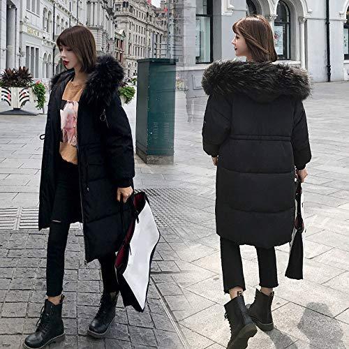 Giacca Giacche Morwind Lungo Cappotti Pelliccia Con Capispalla giacche Cappotto Invernali Donna Imbottita Cotone Black Imbottite Tasca Donne Cappuccio rzXtxqXUw