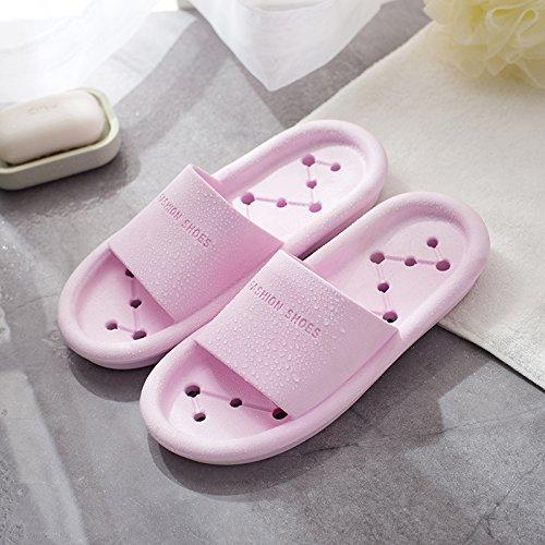 home plastica di indoor cool pantofole 36 37 Con bianca perdita il bagno da estate pantofole vulnerabilità bagno in Viola nero fankou vasca femmina foro tqSUwZZ6