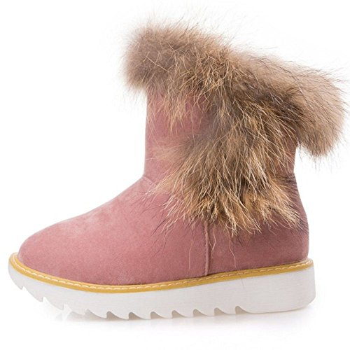 Pull Warm Pink On Lined Women Boots Taoffen EqHxwIPOB