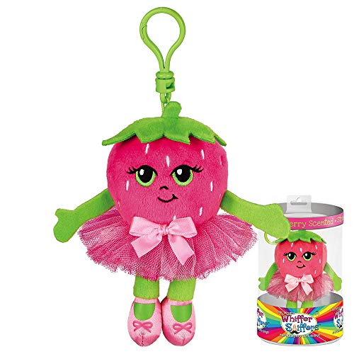 Whiffer Sniffers Strawberry Twirl Scented Ballerina Plush Backpack Clip