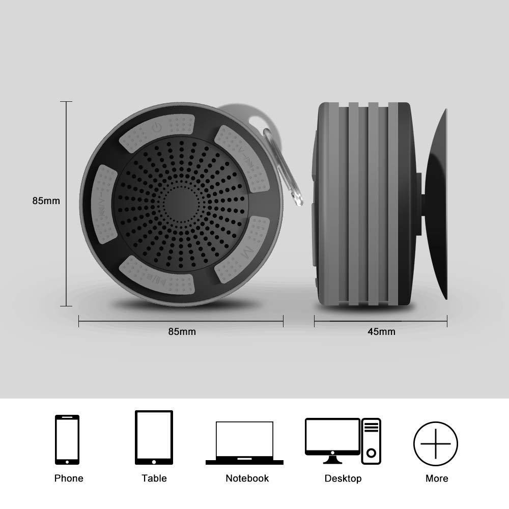Altavoz Bluetooth Portátiles, Alitoo Inalámbrico IP67 Impermeable con Manos Libres, Gancho, Sonido Bass Compatible con Tablet, iPad; Idea para Hogar, Coche, ...