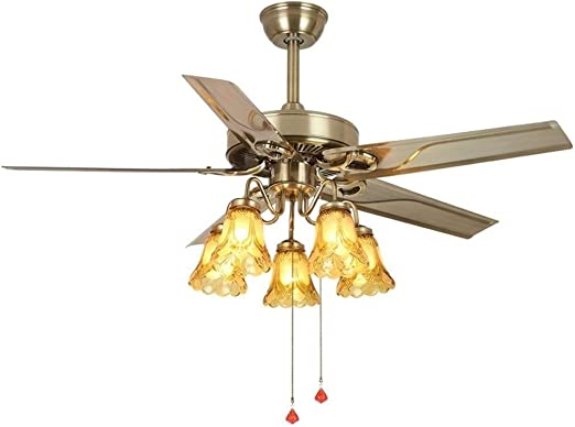William 337 Candelabro Ventilador Colgante de luz LED de la lámpara del hogar Tranquilo Cubierta luz de Techo con Ventilador Reversible Cuchillas Lámpara Colgante [Clase de eficiencia energética A++]: Amazon.es: Hogar