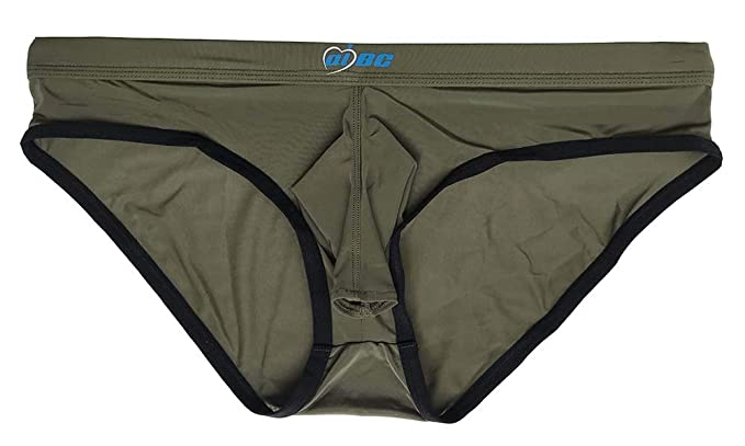 33660855a0d9 Mendove Sexy Men's Smooth Bikini Briefs Airplane Underwear Size M Army Green